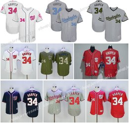 quality design 09391 d9525 nationals 34 bryce harper grey flexbase authentic collection ...