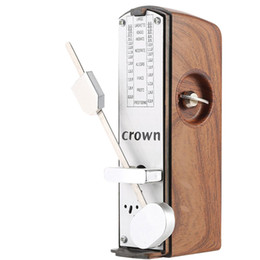 Wholesale Best Selling Portable Mini Mechanical Metronome For Violin Guitar Light Mahogany