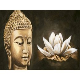 $enCountryForm.capitalKeyWord Canada - DIY Diamond Painting Embroidery 5D Gold Buddha Pattern Cross Stitch Crystal Square Unfinish Home Bedroom Wall Art Decor Craft Gift