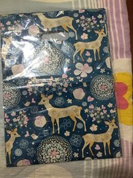 $enCountryForm.capitalKeyWord NZ - 50pcs 25*35cm plastic Christmas bags gift bag printed Blue Color packaging snow flower giraffe decoration bags wedding bags