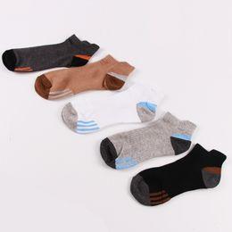 $enCountryForm.capitalKeyWord NZ - New 5 pairs of mixed color clothing men's cotton socks duck tongue followed by sports socks breathable deodorant socks men