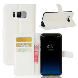 b4deada04a9 Lichee Pattern Wallet Funda de cuero PU para Samsung galaxy S8 S8plus con  estilo de tarjeta de ranura mini