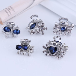 17da955801b Wholesale Small Mini Size Silver Metal Hair Claw Clips Crystal Rhinestone  Girls Womens Cute Hair Jewelry Clamps Hot Sale Hair Pin Accessory