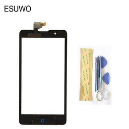China Wholesale- ESUWO New Touch Screen Digitizer Front Glass For ZTE Blade HN V993W L3 Plus Touchscreen Panel Glass Black Color +Tools supplier touch panel zte suppliers