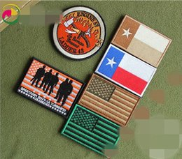 931b263451d Embroidery Texas America Flag Patch 3D Hook And Loop Tactical Patch Morale Armband  Combat Army Badge 6pcs