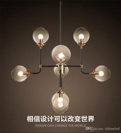 $enCountryForm.capitalKeyWord NZ - North Europe led pendant light 8 globe art glass chandelier DNA pendant lights for coffee clothing lighting fixture