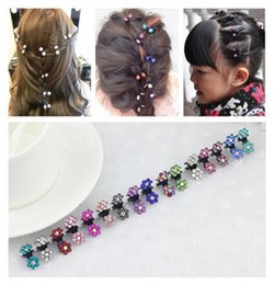 e8ad75150bc 60pcs Alloy clip crab claw headdress hair accessories baby child diamond  plate hair styling hair caught small gripper mini plum