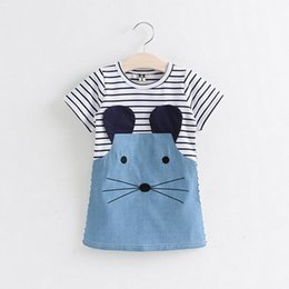 $enCountryForm.capitalKeyWord Canada - 2017 Baby Girls Cotton Stripe Dress Cute Little Mouse Pattern Spring Summer Baby Clothes Daughter Gift Children's day Free Shipping