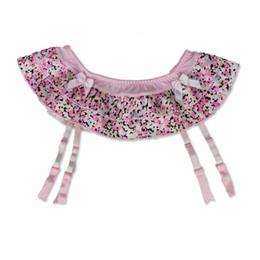 Metal clip garter belts online shopping - New Fashion Pink Women female Sexy Vintage Layered bow decoration Garters Belts for Stocking vogue Pink Metal clips suspender GA009