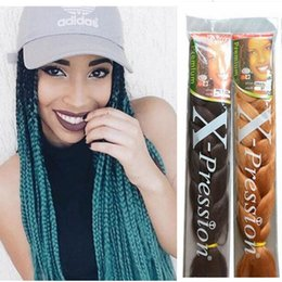 online shopping 24 quot marley braid hair two tone purple grey blue black xpression ombre braiding hair expression senegalese twist jumbo braiding hair women