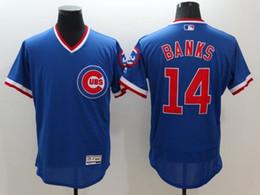 watch 8e377 2962c ebay chicago cubs 14 ernie banks blue throwback jersey 9d104 ...