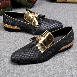 Fashion Trends Hair Canada - Tassel gold hairdresser trend fashion British wind leather hair stylist Le Fu shoes hair stylist tide shoes