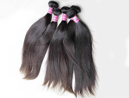 unprocessed human hair Canada - Brazilian Virgin Hair Bundles Straight Peruvian Indian Malaysian Human Hair Weave Unprocessed Cheap Human Hair Extensions Wholesale Price
