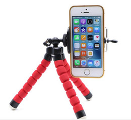 octopus flexible tripod Canada - Flexible Tripod Holder For Cell Phone Car Camera Gopro Universal Mini Octopus Sponge Stand Bracket Selfie Monopod Mount With Clip fast ship