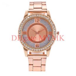 Опт Нью-Йорк мода часы кварцевые часы новый Алмазный Кристалл наручные часы для мужчин женщин серебро / золото / Роза MW01
