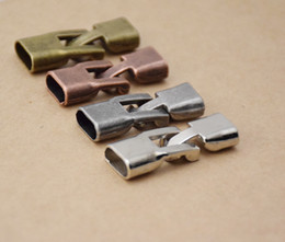 Component Connectors Canada - Accessory Materials Metal Clasps Connector For DIY Bracelet Jewelry Components 50x lot