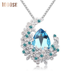 2017 new A genuine SWAROVSKI crystal elements used on thick sweater chain  necklace - Retro long female sale 752f894fadf4