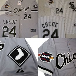 9ba9ef591 24 Joe Crede With 2005 World Series Champions Patch Chicago White Sox  Customized Jersey 100% ...