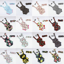 Toddlers bouTique online shopping - Ins Boutique Baby clothes Rompers bodysuits Balls tassels Florals Headbands set years cotton Infant toddler summer