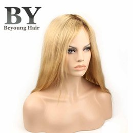 $enCountryForm.capitalKeyWord Canada - Beyounghair Custom Order Fine Mono Base Human Hair Wigs For Women #613 Top 1inch For #4 Human Hair Replacement Women Toupee Quick Delivery