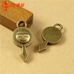$enCountryForm.capitalKeyWord Canada - 11*23*3MM Antique Bronze boy sign charms for bracelet, metal dangle vintage gender pendant for necklace, fashion tibetan alloy charms lot
