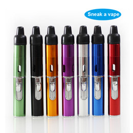 Discount torch lighter free shipping - 5pcs Smoking Pipe Click N Vape Sneak A Vape Sneak A Toke Herbal Vaporizer E-Cigarette Water and Wind Proof Torch Lighter