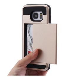 luxury armor phone case 2019 - S7 S7 Edge Case Card Slot Holder for Samsung Galaxy Note 3 4 5 S6 S6 Edge PlusCase Luxury Hard Armor Hybrid Shockproof C