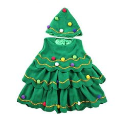 Barato Trajes De Halloween Da Árvore-Meninas Novas fantasias de Halloween para disfarces infantis Execute Cloth Kids Party Role Play Christmas Tree Theme Cosplay For Children