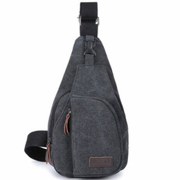 $enCountryForm.capitalKeyWord UK - Single Shoulder Bag Unbalanced Chest Haversack Mobile Phone Pouch Small Stuff Cross Body Men Canvas Bag Casual Outdoor Travel Sling Pack