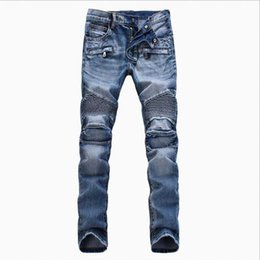 Fashion Men Biker Denim Jeans Casual Skinny Moto Pants Vintage Male Long Trousers Hip Hop Harem Joggers Modern Promotion
