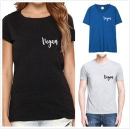 179bbbfd2 Men and Women Unisex Shirt VEGAN VIBES Pocket Letter Printing T-Shirt  Cotton Casual Funny t Shirt For Girl Top Tee Hipster Tumblr Plus Size