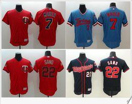 ... Minnesota Twins 7 Joe Mauer 22 Miguel Sano Mens Embroidery Baseball  Uniforms Shirts Stitched Patches Cheap Lowest Price MLB Jerseys - Cheap ... 8f1e7aa99