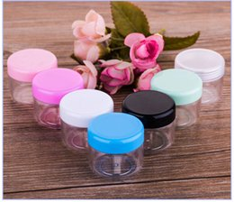 $enCountryForm.capitalKeyWord NZ - Hot Sale 2000pcs 20g plastic cosmetic container colorful Plastic cream jar Makeup Sample Jars Cosmetic Packaging Bottles in stock