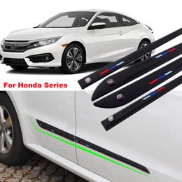 $enCountryForm.capitalKeyWord Canada - Car-styling 4pcs High-quality Anti-rub Body Side Door Rubber Decoration Strips Anticollision Strips For Honda Series