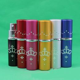 $enCountryForm.capitalKeyWord Canada - New Crown 10ml Drill Point Perfume Bottle Travel Perfume Atomizer Aluminum Refillable Pump Spray Portable Bottle WA2273