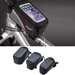 $enCountryForm.capitalKeyWord Canada - ROSWHEEL Cycling Bike Bicycle bags panniers Frame Front Tube Bag For Cell Phone MTB Bike Touch Screen Bag fre