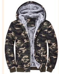 $enCountryForm.capitalKeyWord Canada - men's youth with velvet thickening hooded cardigan warm coat Camouflage Army Outwear Ultralight Jacket