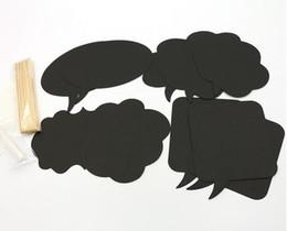 $enCountryForm.capitalKeyWord UK - Wholesale- 10pcs set Photo Booth Props Mask mini black board paper Card For Wedding Birthday Party Decoration gift Wholesale