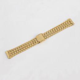 $enCountryForm.capitalKeyWord NZ - Gold Fashion Stainless Steel Bracelet Watch Bands 15mm 16mm 17mm 18mm 19mm 20mm 21mm 22mm Free Shipping