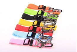 PuPPy car online shopping - Party Colors Cat Dog Car Safety Seat Belt Harness Adjustable Pet Puppy Pup Hound Vehicle Seatbelt Lead Leash for Dogs color