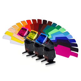 yongnuo flash speedlite 2019 - 20 Color Photographic Color Gels Filter Card Lighting Diffuser for Canon Nikon Yongnuo Flash Nissin Speedlite
