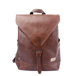 Red mini laptop online shopping - Three Box Men Backpack For Teenagers Male Youth PU Leather Bag School Satchel Laptop Women Backpacks Casual Rucksack