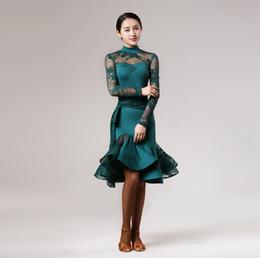 cd285411ee3 lace green women latin dress Latina dance dress samba salsa dress fringe latin  dance costumes for women sexy tango dresses