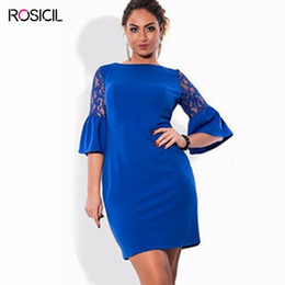 Dress Sexy Size 6xl Canada - 2017 New Lace Flare Sleeve Plus Size Women Elegant Casual Office Dresses Black 4XL Big Size Long Bodycon Dress 6XL Large Size Women Dress