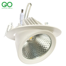 Remote contRol chips online shopping - LED Downlight W COB Bridgelux Chip lm w Ceiling Down Lights Rotatable Adjustable LED Trunk Light Gimbal Gimble Direction Spot Light