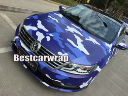 full body cars stickers UK - Blue Arctic Camo VINYL Full Car Wrapping Camouflage Foil Stickers with Camo truck covering foil with air free size 1.52 x 30m Roll
