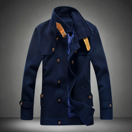 Discount Short Pea Coat Men | 2017 Men Short Pea Coat Jacket on ...