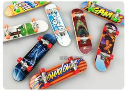 Toys Skating Board Canada - Wholesale Promotion Mini Skateboard Best Price plastic Wheel Finger Board Finger Skate Boarding Sport Toys For Friend Kids New M857