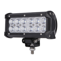 amber boat Canada - Led Work Light Bar 36W Led Flood Lights Fog Lights Driving Lamp Waterproof for Off Road JEEP 4WD 4X4 Toyota Ford Marine Boat ATV UTE UTV SU