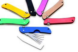 hardware tools set UK - Foldable Fold Pick Tool Locksmith Tool Lock Pick Set Colorful Utility Hardware Combination for Training Practice - 7 Colors Optional